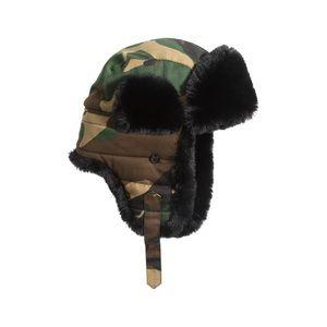 Stewart Of Scotland Wool Blenf Faux Fur Bomber Hat